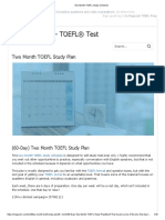 Two Month TOEFL Study Schedule
