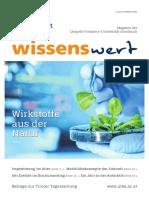 Wissenswert Oktober 2020 - Magazin der Universität Innsbruck