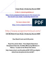 CIS 562 Week 8 Case Study 3 Analyzing Stuxnet NEW