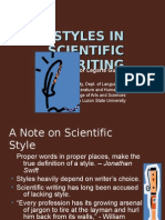 Styles in Scientific Writing