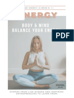 Excerpt of E-book 'Energy, Body and Mind - Balance your energy' of Future Females