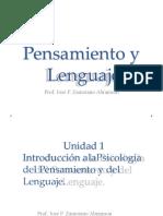 Unidad 1, Psicología del Pensamiento y del Lenguaje.