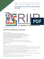 Francesca Randazzo Eisemann « Red Iberoamericana de Investigación en Imaginarios y Representaciones (RIIR)