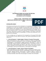 EDITAL 01 2020 PPGP PROPEP CPG MESTRADO EM PSICOLOGIA