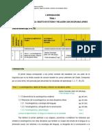 I INTRODUCCION Tema 1 Orientaciones de estudio