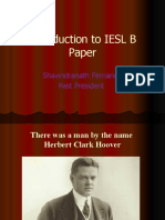 Introduction to B Paper