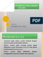 SPINAL ANESTHESIA PADA SEKSIO CESARIA.PPT.REFRAT I.ppt