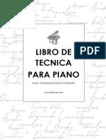 LIBRO DE TECNICA PARA PIANO NIVEL 1 ELEMENTAL