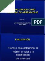 La evaluación como recurso de aprendizaje- Clase No. 2