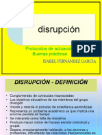 Conductas disruptivas. Isabel Fernández