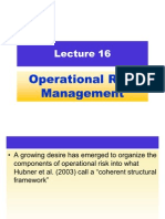 Lecture 16 - Operational Risk Management