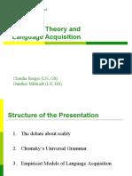 Language theory and language acquisition