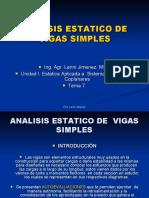 TEMA 7 ANALISIS ESTATICO DE VIGAS SIMPLES.pps