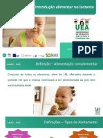 Clube da Criança- Alimentação no lactente