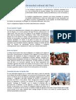 La diversidad cultural del Perú