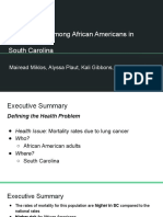 lung cancer among african americans in south carolina