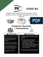 AAON - Equipo Paquete 100% Aire Exterior - Manual IOM.pdf