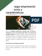 EL LIDERAZGO EMPRESARIAL CARACTERISTICAS