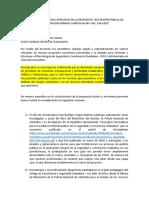 ACLARACIÓN DE PRECIOS OFRECIDOS EN LA PROPUESTA
