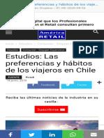 Estudios Las preferencias y hábitos de los viajeros en Chile  América Retail