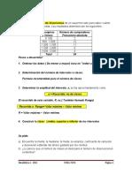 EJERCICIO MEDIDAS DE TENDENCIA CENTRAL Y DISPERSION