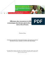 F39. Efficiency of fish farming in Cote d_ Ivoire