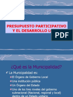 PRESUPUESTO PARTICIPATIVO Y DESRROLLO LOCAL