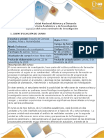 Syllabus del curso Seminario de Investigación