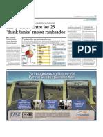ILD y Grade entre los 25 'think tanks' mejor rankeados