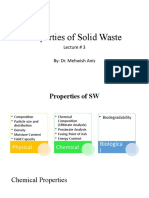 Lecture # 3 Properties of SW