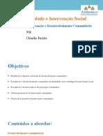 Comunidade e intervenção social - módulo de intervenção