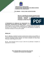 Resolução CGRAD 10-2020 - calendário ERE 2020-1 BH