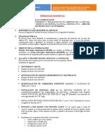 TÉRMINOS DE REFERENCIA MANTENIMIENTO Y REPARACION DE UN AMBIENTE DEL 1ER PISO DEL EDIFICIO N°2 - ADMINISTRACION DE PROYECTOS Y ACT