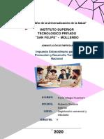 MONOGRAFÍA (Impuesto Extraordinario para la Promoción y Desarrollo Turístico Nacional) Karol Aliaga Huamani.pdf