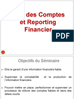 Audit des Comptes et reporting financier