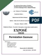 Perméation Gazeuse