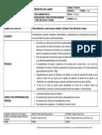 FT-GAA-41 FICHA TECNICA DE SERVICIO COMERCIALIZACION Y VENTA DE PECES CEBADOS
