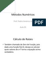 Métodos Numéricos - Aula 05