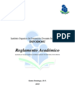 Reglamento Academico aprobado el 24 de mayo de 2018