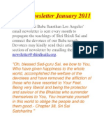Baba Newsletter January 2011
