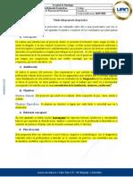 Formato 8. Proyecto de Prácticas Profesionales Formativas