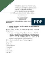 UNIVERSIDAD DISTRITAL FRANCISCO JOSÉ DE CALDAS-cuestionario polimeros