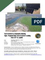 SLP Solar Farm Commun Mtg Flyer