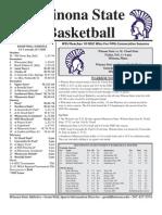 Winona State Warrior Women's Basketball Feb. 1, 2011 Game Notes