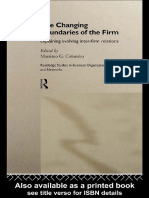 Colombo, M. - The Changing Boundaries of the Firm