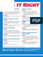 World Book Citation Poster