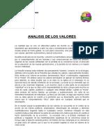 ANALISIS DE LOS VALORES