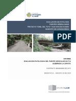 Informe Evaluación Patologíca Puente K2+714 - Q. La Zapata