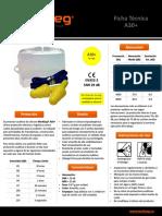 Ficha Técnica de Protector Auditivo de Silicona WorkSeg A30más con 3 Anillos en Caja NNR 26 dB