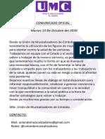 u.m.c. Comunicado Oficial 13-10